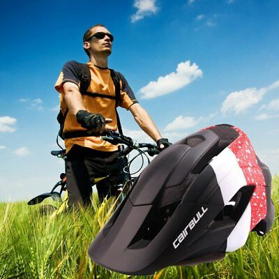 CAIRBULL Mountain Bike Helmet Removable Visor Safe Outdoor Cycling Hel DY