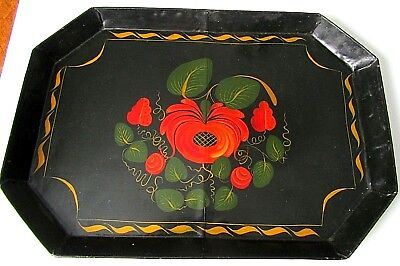 Antique Hp Metal Tole Tray Ruth Douglass Conway Nh Artist