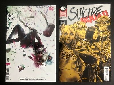 Suicide Squad #47 (DC 2018) NEAR FLAWLESS 2 book lot (regular & Mattina variant)