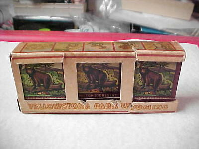 Large Pack Yellowstone Park Matches; Circa 1950's