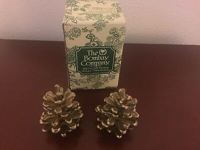 The Bombay Company Antique Reproductions Brass Pinecones