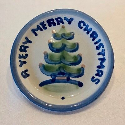 M. A. Hadley A VERY MERRY CHRISTMAS Small Coaster Plate Dish, signed, Gift Boxed