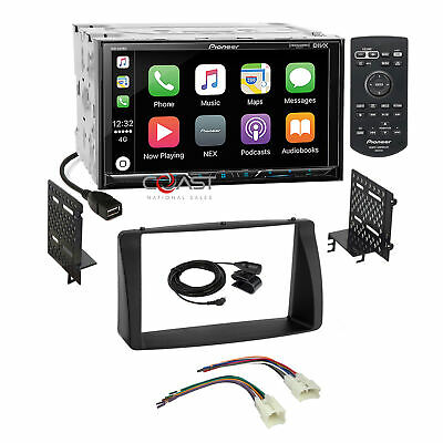Pioneer 2018 Carplay GPS Ready Stereo Dash Kit Harness for 03-08 Toyota Corolla