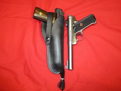"""Western Style Leather Holster for Browning Buckmark .22 LR/ Ruger Mark III 51/2"""""""