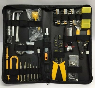 Electrians Tool Case With Crimpers, Wire Strippers Precision Screwdrivers Etc