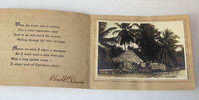 Vintage WWII Christmas Card From Soldier 5th US Infantry Camp Paraiso Panama