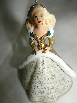 1994 Hallmark Barbie Ornament #2 In Series Holiday Gown - New In Box