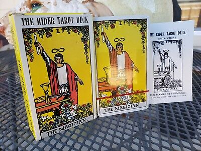 Vintage NOS NEW SEALED 1971 Waite's The Rider Tarot Deck THE MAGICIAN
