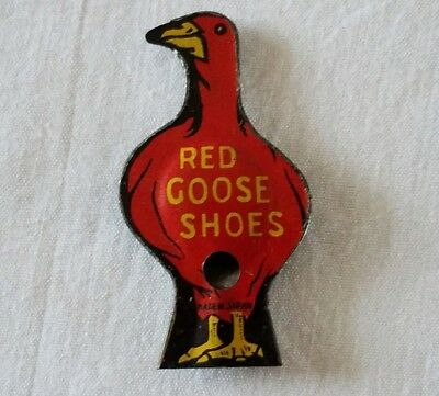 Vintage Advertising Red Goose Shoes Tin Litho Whistle Made in Japan Works Well