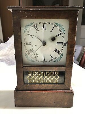 "Vintage / Antique Wooden ""Ansonia clock"" Clock- Wind-up,Made in USA."