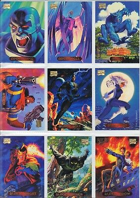 1994 Marvel Masterpieces Complete Base Set w/ Powerblast and Holofoil Inserts