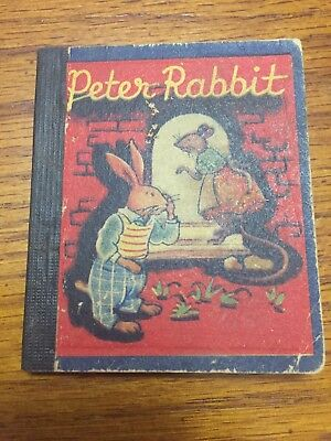 Exceptionally Rare Early Peter Rabbit Illustrated Miniature Book NR