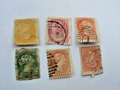 40+ 1890-1900's BRITISH COLONY STAMPS•Canada•India•Mauritius•Natal•Hong Kong•+