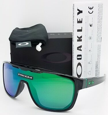 f013d3a25a7ad NEW Oakley Crossrange Shield sunglasses Black Prizm Jade Iridium 9387-1231  green