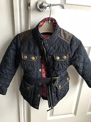 NEXT girls Navy Padded jacket Age 3-4 Eck Condition