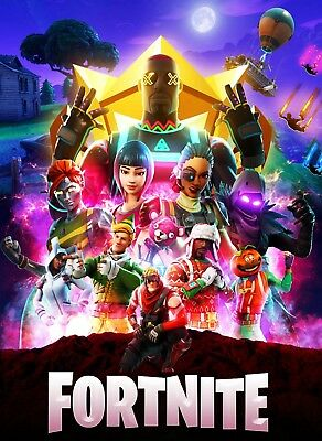 Fortnite iron on transfer for dark or light fabric 5x7 Size