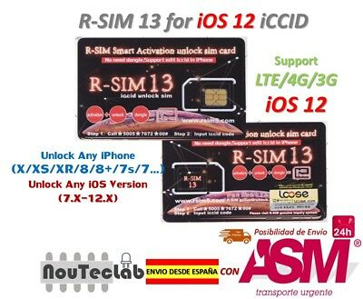 R-SIM13 Smart Activation Unlock SIM card iPhone XR/XS/X/8 iOS12.x RSIM R-SIM 13