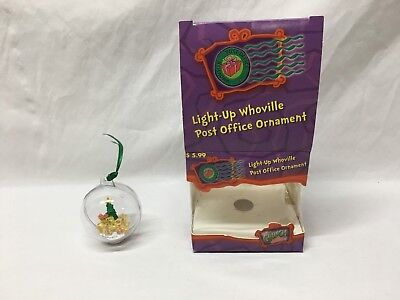 Dr. Seuss Grinch Light-Up Whoville Post Office Ornament 2000