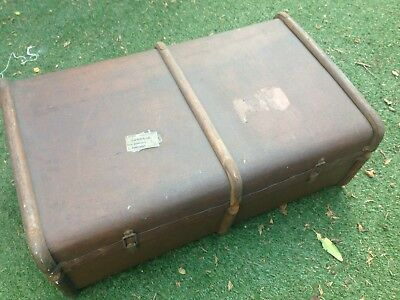antique Bentwood Style travel trunk Blanket Box Coffee Table