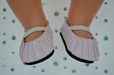 """Dolls Shoes For 17""""Baby Born~18""""American Girl  PRETTY PALE PINK SHOES"""