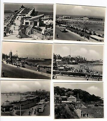 6 REAL PHOTO SOUVENIR SNAP IMAGES OF MORECAMBE - CIcRA 1930's-40's ?