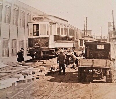 Trolly Photo, Car #33, Third Ave. System, At James St. Car Barn, New Haven, Conn