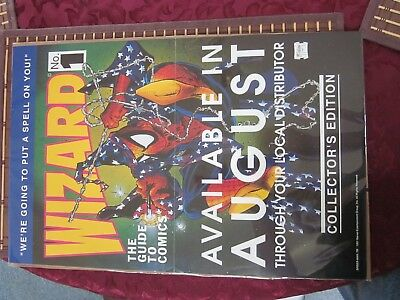 1st EDITION WIZARD COMIC GUIDE PROMO POSTER NUMBER 1