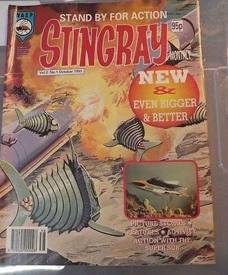 Stingray The Comic  Vol 2 . No 1 October 1993 GERRY ANDERSON - EXC.