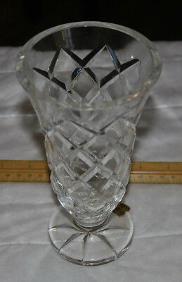 Antique Waterford Crystal Cut , Vase 7 Inch Tall - Made in Ireland with Label