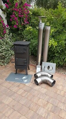Wood Burning Stove Log Burner Multifuel Tent Greenhouse Garage Workshop Storage