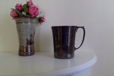 Old collectable Silver plate Mug large Cup Nicely Patinated