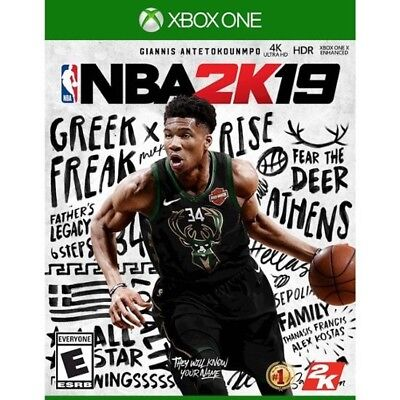 NBA 2K19 XBOX ONE 1 Physical Disc Brand New Factory Sealed 2019  with Free Ship