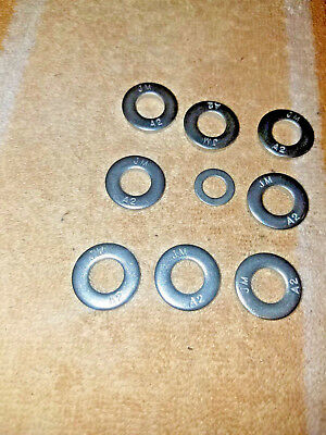 TRIUMPH 8&9 BOLT CYLINDER HEAD PRE UNIT 350 500 650 750 3/8 SS THICK WASHERs