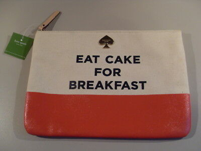 Kate Spade New York 'eat Cake For Breakfast' Genuine New Old Stock Lady's Pouch