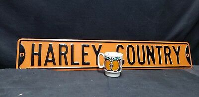 Harley Country Metal Motorcycle Sign