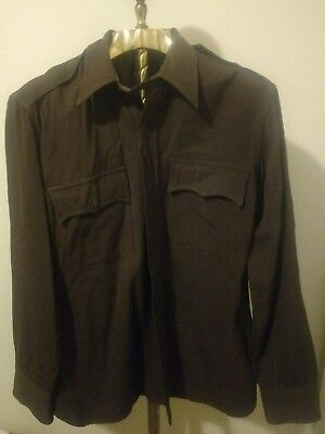 Forward Button Down Shirt Jackson Raymond Vtg Brown London Shrunk wool 40's 50's