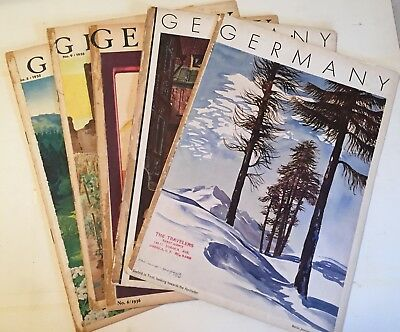 Lot of 5 Vintage Nazi Germany Travel Magazines from the 1930s