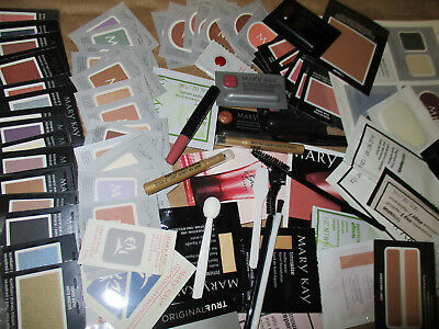 MARY KAY ~ Makeup cosmetic samples ~ LOT OF 35 ~ No Repeats! READ, fun gift!