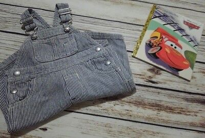 Boy's Overalls Sz 0-3 Months by BABY GAP Hickory Stripe Train Conductor Railroad