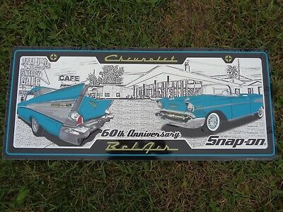 SNAP-ON 60TH ANNIVERSARY CHEVY BELAIR METAL SIGN 32 X 13 3/4  Brand New!