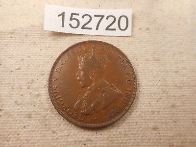 1925 Australia One Penny Key Date Better Grade Collector Raw Coin - # 152720
