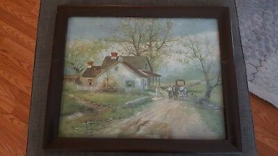 J. C. Claghorn-American (1869-1947) Watercolor Painting (Signed)