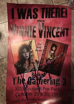 Kiss- Vinnie Vincent Signed The Gathering Poster