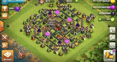 Clash of Clans TH 10 Level 112 Heroes 15/13 Builder Base 6 on paper clip