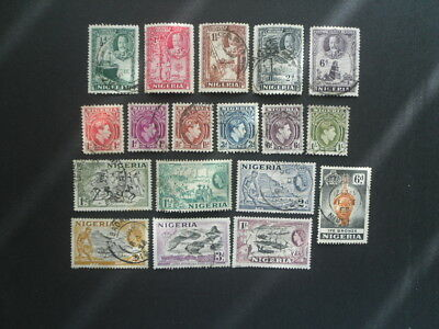 NIGERIA small collection of used stamps