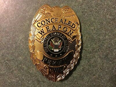 Concealed Weapons Permit Badge Shield CWP