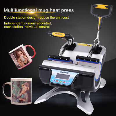 Double Station Digital Heat Press Transfer Sublimation Machine Fr Cup Coffee Mug