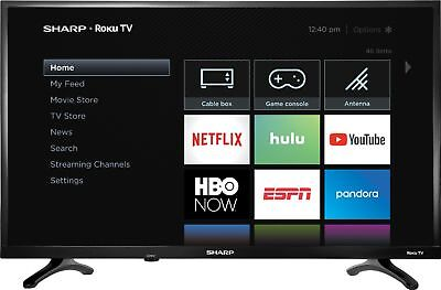 "Sharp - 32"" Class - LED - 720p - Smart - HDTV Roku TV"