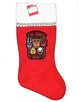 Five Nights At Freddy's Christmas Stocking, Soft Felt, Gamer, New & Unique!