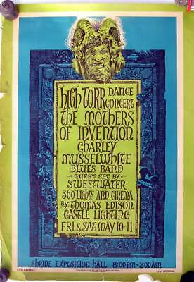 MOTHERS of INVENTION 1969 Original Low-Run Zappa CONCERT POSTER Shrine Expo L.A.